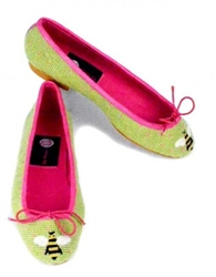 ByPaige - Bee on Lime Ballet Flats