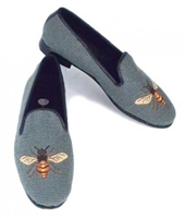 ByPaige - Bee on Sage Needlepoint Women's Loafer