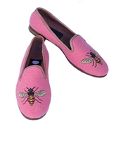 ByPaige - Bee on Shrimp Needlepoint Women's Loafer