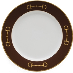 Cheval Chestnut Brown Salad Plate by Julie Wear