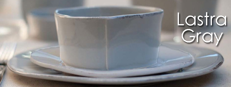 & VIETRI Lastra Gray - Rustic Italian Stoneware Dinnerware