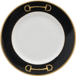 Cheval Black Bread Plate by Julie Wear