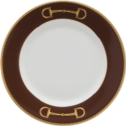 Cheval Chestnut Brown Bread Plate by Julie Wear