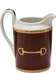 Cheval Chestnut Brown Creamer by Julie Wear