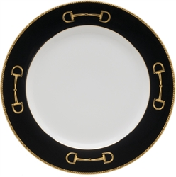 Cheval Black Luncheon Plate by Julie Wear