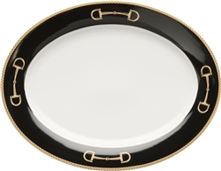 Cheval Black Platter by Julie Wear