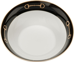 Cheval Black Serving Bowl by Julie Wear