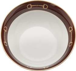 Cheval Chestnut Brown Serving Bowl by Julie Wear