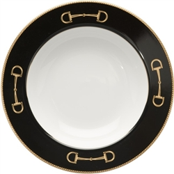 Cheval Black Rim Soup Bowl by Julie Wear