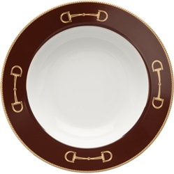 Cheval Chestnut Brown Rim Soup Bowl by Julie Wear