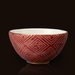 Jupon Red Fortuny Cereal Bowl by L'Objet