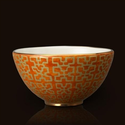 Ashanti Orange Fortuny Cereal Bowl by L'Objet