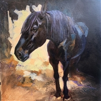 Original Oil Painting: Draft Horse