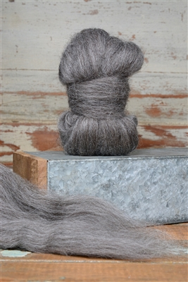 Gray Finnish Top Coat - Natural Roving