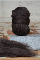Brown/Black Shetland Top Coat - Natural Roving