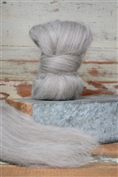 Gray Shetland Top Coat - Natural Roving