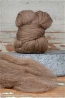 Shetland Moorit Top Coat - Natural Roving