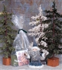 Wooly Pine Tree Kit medium/dark green
