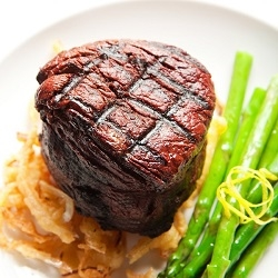 Exotic Meat Market offers USDA inspected Eland Filet Mignon Steaks. Exotic Meat lovers, make it your New Year's resolution to try Eland Meat this year. Eland meat is 97% lean. Eland Meat is a more healthful and flavorful alternative to the standard Beef.