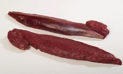 Elk Tenderloins are sweet, juicy, lean, tender and full of flavor. This package includes 2 Elk Tenderloins. Total Weight of this package will be approximately 1.8 to 2 Lbs.
