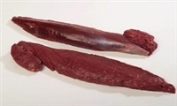 Elk Tenderloins are sweet, juicy, lean, tender and full of flavor. Our Elks are pasture raised on grass and leaves. No growth hormones or antibiotics are used when raising these animals. Elk Meat is dark, coarsely grained, mild with a sweet flavor.