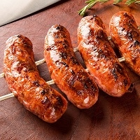 Venison Bratwurst Sausage is made exclusively from Venison Meat and Pork Fat for flavor. Bratwurst is a type of German sausage made from veal, beef, or most commonly pork.