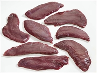 Flank steaks are most flavorful pieces of meat on Venison. Venison flanks are a small, flavorful, thin cut that is typically cooked quickly with dry heat, seared or grilled. The meat should be thinly sliced against this grain prior to serving on order.