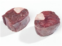 Exotic Meat Market offers Venison Osso Buco. In Italian, Osso Buco translates as 'bone with a hole.' Venison Osso Buco cut is a cross-section of a shank, cut straight across so that it includes chunky meat with bone marrow.