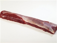 Exotic Meat Market offers Venison Striploin. Average Weight 4 to 6 Lbs. Venison striploin comes from the saddle. Venison Striploin is one of the most desirable cut of meat of Venison. This fabulously tender and lean piece of meat makes the perfect dinner.