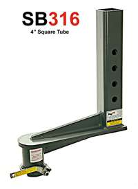 16 in. 4 in. square gooseneck extension