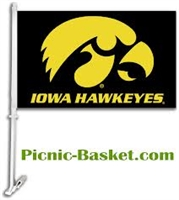 IOWA CAR FLAG