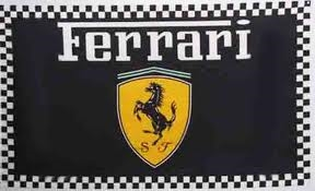 FERRARI BLACK 3FT X 5FT