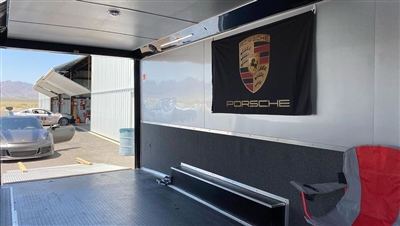 PORSCHE RACE TRAILER FLAG