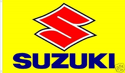 SUZUKI-BIKE 3FT X 5FT
