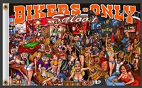 Z BIKERS ONLY SALOON 3FT X 5FT