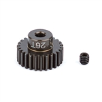ASC1344 Team Associated FT Aluminum Pinion Gear 48P, 1/8 Shaft 26T