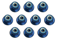 ASC25392 3mm Aluminum Lock Nuts Blue 10 MGT