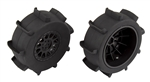 ASC71062 Team Associated Sand Paddle Tires and Method SC Wheels, mounted, black, rear