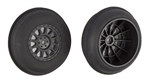 ASC71063 Team Associated Sand Ribbed Tires and Method SC Wheels, mounted, black, front