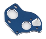 ASC91795 Team Associated B6.1 Laydown Motor Plate, blue aluminum