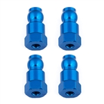ASC91817 Team Associated Shock Bushings, 14 mm, blue aluminum