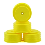 DE Racing SC6.1 +3mm Wheels 12mm Hex Speedline PLUS SC (Yellow) (4) (SC5M,SC10.2,ProSC4x4)