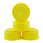 DE Racing TEN-SCTE Wheels 12mm Hex Speedline PLUS SC Wheels (Yellow) (4) (TLR 22SCT, Tekno SCT410)