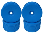 DE Racing Speedline PLUS 1/8 Truggy Wheels, Blue (4 Pack)