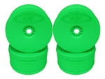 DE Racing Speedline PLUS 1/8 Truggy Wheels, Green (4 Pack)