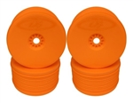 DER-PT4-8O DE Racing Speedline PLUS 1/8 Truggy Wheels, Orange (4 Pack)