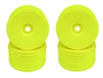 "DERPT48Y DE Racing ""Speedline PLUS"" Truggy Wheels for 1/8 scale truggy - YELLOW (4)"
