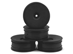 DE Racing B6.1 Wheels 12mm Hex Speedline Buggy (Front) (Black) (4) (RB6)