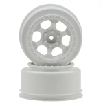 DE Racing Slash 4x4 Wheels 12mm Hex Trinidad SC (White) (2) (SC6/Blitz/SCRT10/Hyper 10SC)