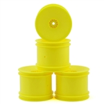 DE Racing 22T Wheels 12mm Hex Speedline Stadium Truck (Yellow) (4)